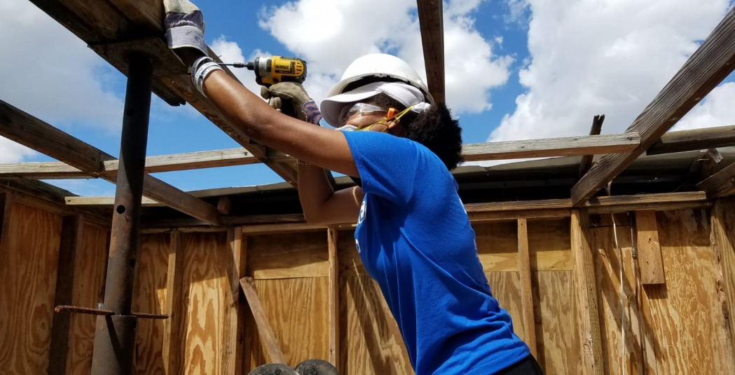 ASB student helps rebuild a house