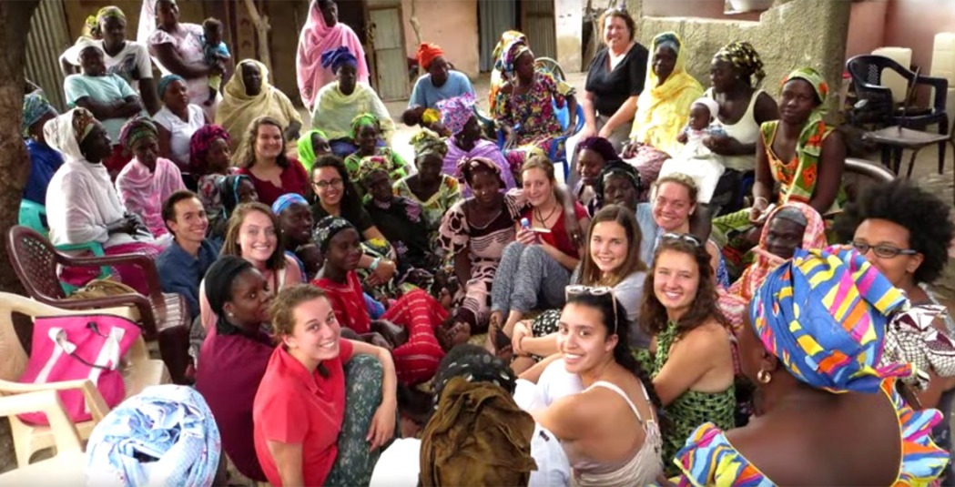 Student group in Senegal