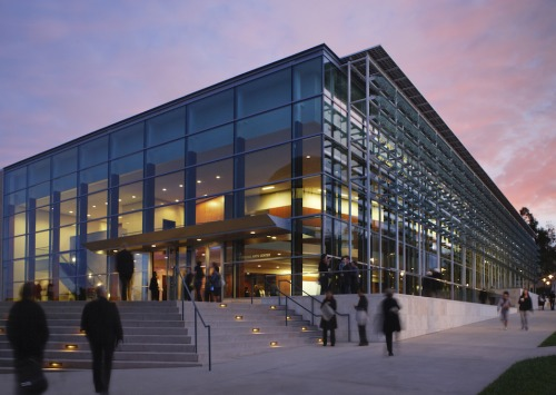 Soka University PAC at sunset