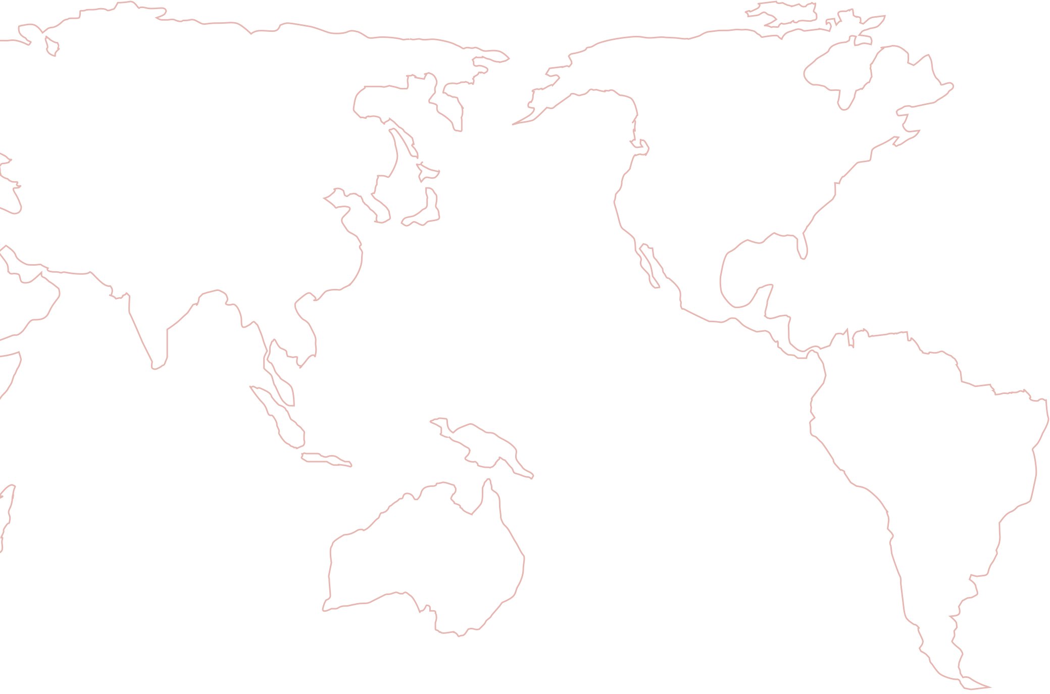 Outline Map of the Americas, Asia, and Oceania