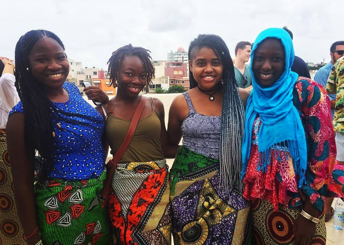 Student with Senegalese women