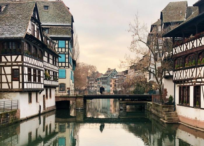 City centre in Strasbourg, France