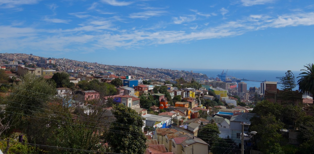 The hills above Valparaiso, Chile.