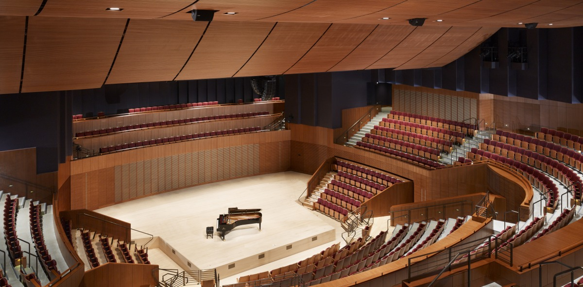 Interior View of Concert Hall with Piano