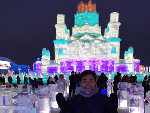 Student at Ice Sculpture Festival in China