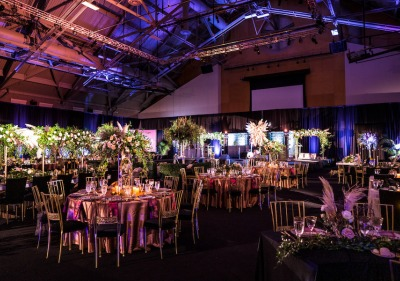 Image of gala set up in the recreation center.