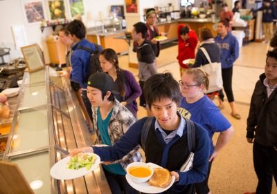 Image of students at the Soka Bistro.