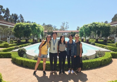 Image of students at the Getty Villa.