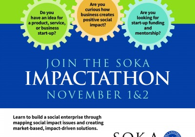 Join IMPACTATHON event poster. Win prize money for winning ideas.