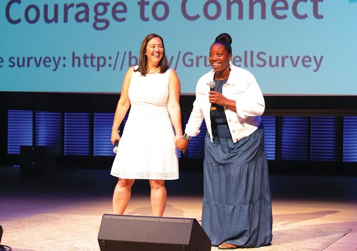 Erin Gruwell and Shanate Jones