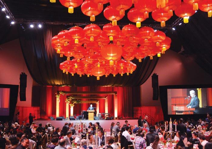 Ballroom during the Soka Peace Gala