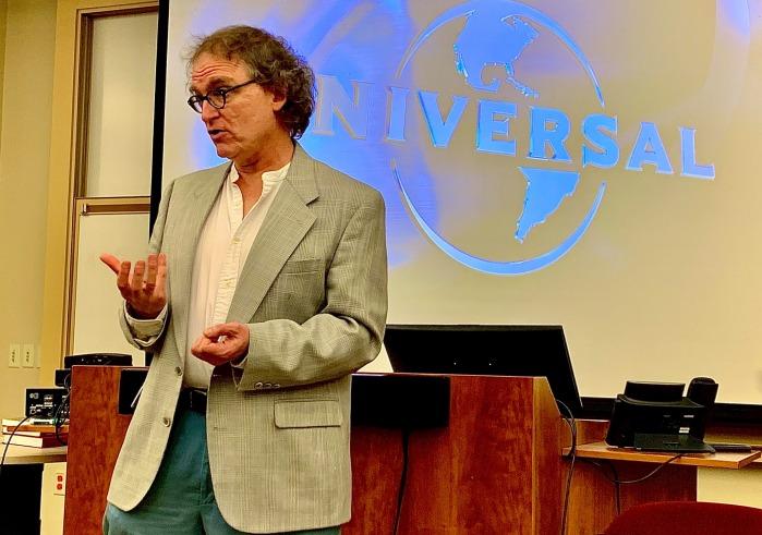 O. Bradley Bassler lecturing on Hitchcock's Vertigo