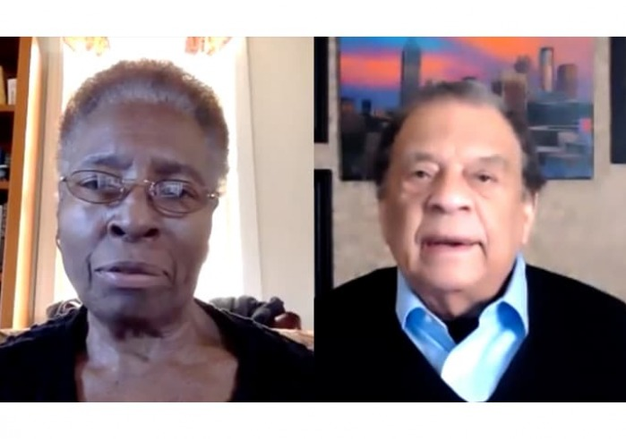 Hortense Spillers and Andrew Young via Zoom