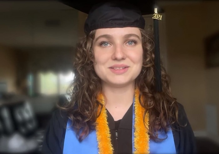Abigail Meyer in cap and gown