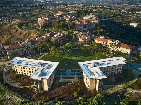 Aerial view of Soka campus