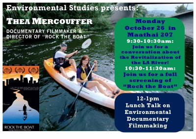 Thea Mercouffer guest lecture flyer.