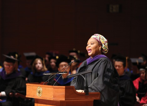Commencement speaker Leymah Gbowe