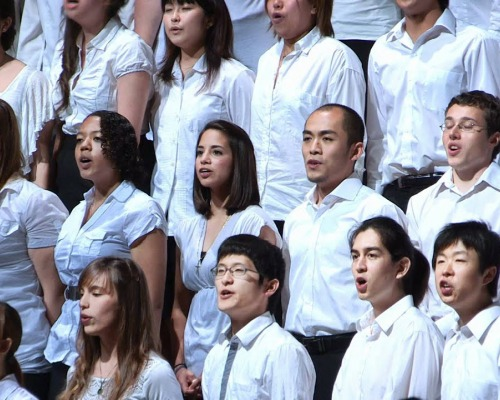 Choir sings On the Path of Peace